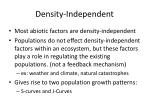 density independent