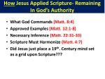 how jesus applied scripture remaining in god s authority