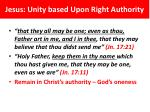 jesus unity based upon right authority1