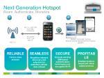 next generation hotspot roam authenticate monetize