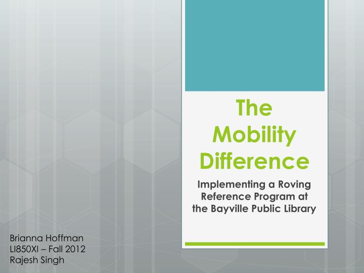 the mobility difference n.