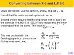 converting between x 6 and lj12 6