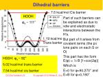 d ihedral barriers