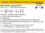 popular vdw nonbond terms exponential 6
