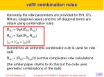 vdw combination rules
