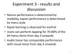 experiment 3 results and discussion