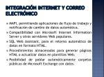 integraci n internet y correo e lectr nico