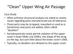 clean upper wing air passage
