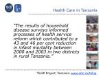 health care in tanzania