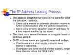 the ip address leasing process