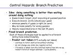 control hazards branch prediction