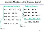example nondelayed vs delayed branch