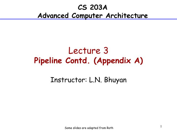 lecture 3 pipeline contd appendix a n.
