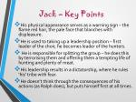 jack key points