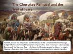 the cherokee removal and the trail of tears