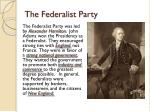 the federalist party