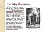 the whig opposition