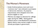 the woman s movement