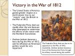 victory in the war of 1812
