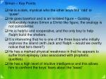 simon key points