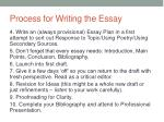 process for writing the essay