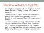 process for writing the long essay
