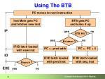 using the btb