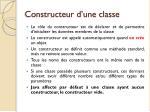 constructeur d une classe
