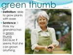 green thumb page 69