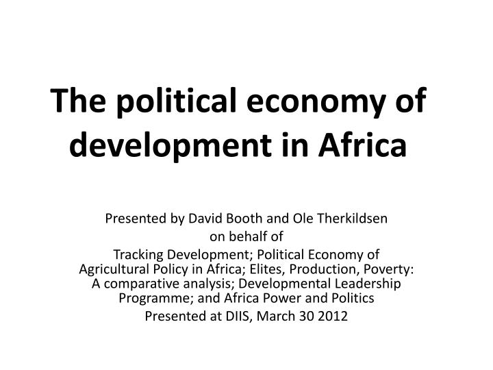 the political economy of development in africa n.