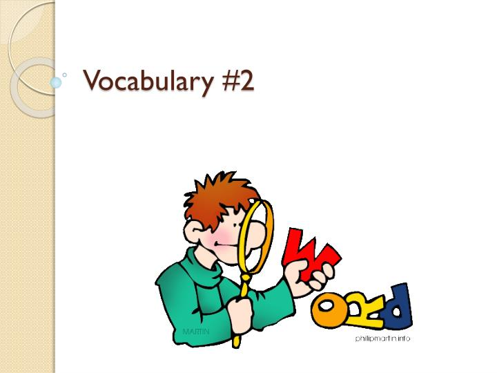 vocabulary 2 n.