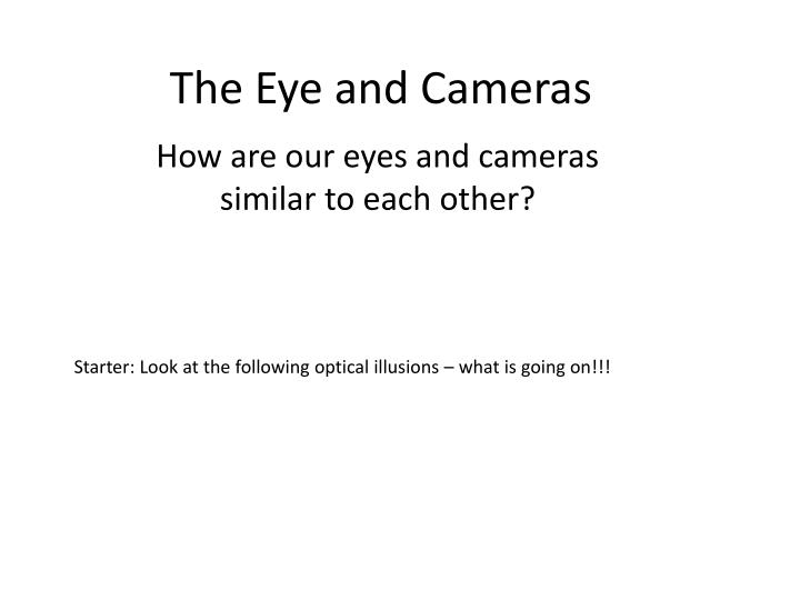 the eye and cameras n.