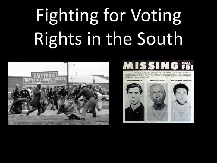 fighting for voting rights in the south n.