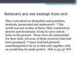 believers are not exempt from evil