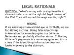 legal rationale