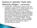 section ii identity theft with nebraska wages continued1