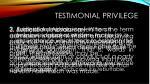 testimonial privilege