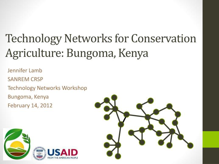 technology networks for conservation agriculture bungoma kenya n.