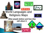 world languages and religions maps