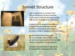 sonnet structure