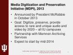media digitization and preservation initiative mdpi 2013