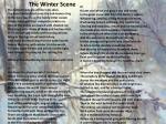 the winter scene