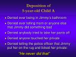 deposition of 5 year old child a