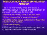 dissociation and ptsd related amnesia