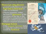 strategies of dispossesing lands