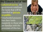 the cadastral act of 1903