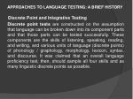 approaches to language testing a brief history