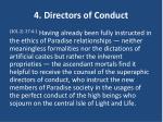 4 directors of conduct