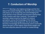 7 conductors of worship