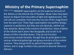 ministry of the primary supernaphim